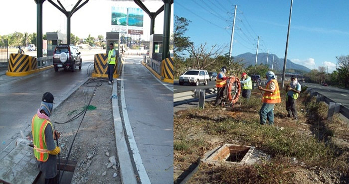 Splicing, OTDR Testing & Cable Pulling at SLEX
